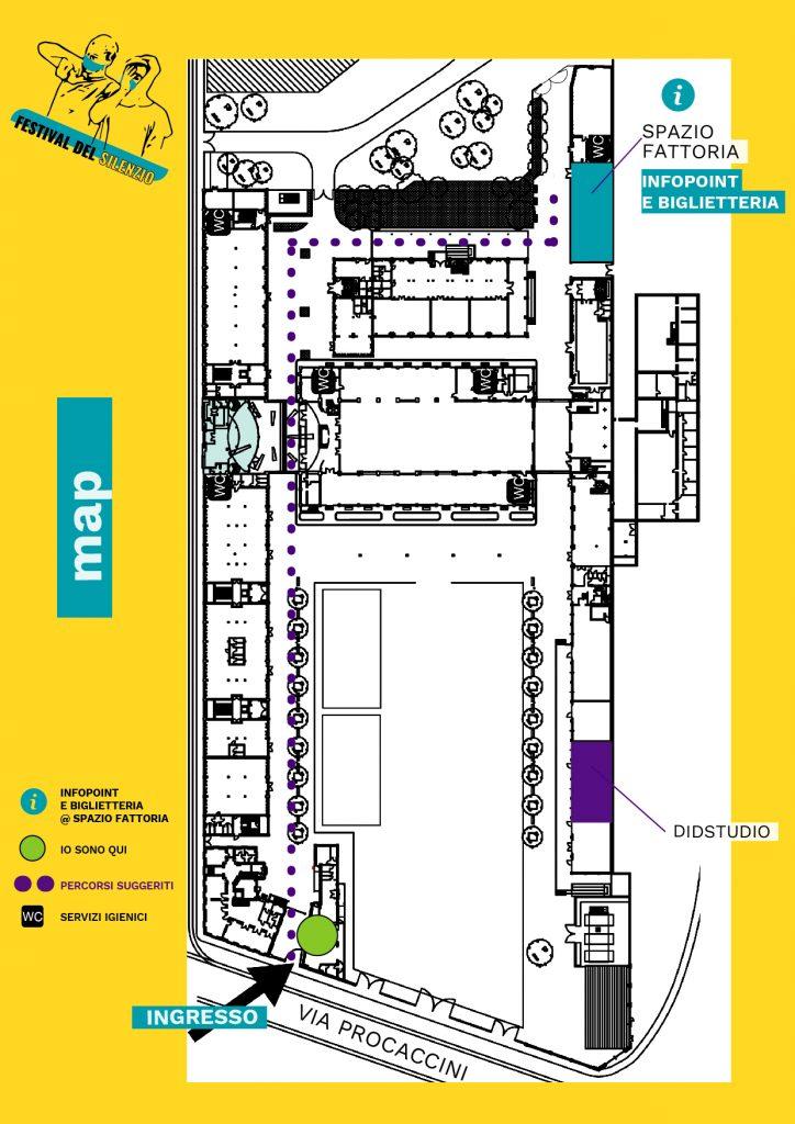 Mappa Festival Del silenzio Fabbrica del vapore